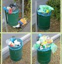 Cestini di via San Gaetano sempre stracolmi di rifiuti