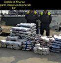 Maxi sequestro di droga, sulla barca oltre 300 kg di marijuana e hashish