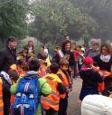 Il sindaco Arena accoglie i bambini del Pedibus martedì mattina alla Primaria Anna Frank