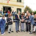 un'immagine dell'inaugurazione del mezzo a Villa Alba