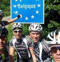 i cinque ciclisti trevigiani durante il viaggio