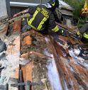 l'incendio in via San Michele