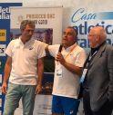 """da destra a sinistra, Giuseppe Zoni, Vincenzo Parrinello e il coordinatore dell'incontro di """"Casa Atletica Italiana"""", Alberto Villa"""