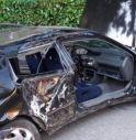 l'auto incidentata (foto Vigili del Fuoco)