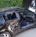 l'auto incidentata a Santa Maria di Campagna di Cessalto