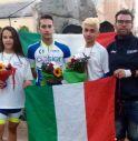 Ilaria Carrer, Giacomo Serena, Davide Paolì e il tecnico Bighin