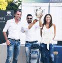 il presidente Diego Carron con la sorella Arianna e il vincitore della President's Cup 2017, Daniele Vit
