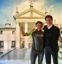 Claudio Chiappucci con il presidente di Villa Sandi, Giancarlo Moretti Polegato