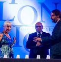 da sinistra Helen Mirren , Walter Di Francesco e Neri Marcorè