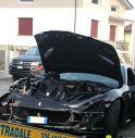 l'incidente della Ferrari di domenica scorsa a Tamai di Brugnera (Pn)