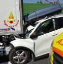 l'incidente di oggi pomeriggio (foto Vigili del Fuoco)