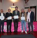 Da sinistra Mauro Fael, Floriano Zambon, Guido Dussin, Renzo Zanchetta e Aldo Zanetti