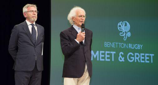 il presidente Amerino Zatta e il patron Luciano Benetton