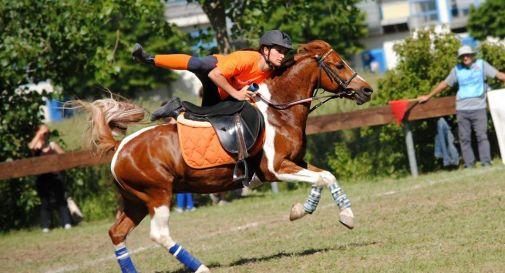 Carlotta e il pony Marco ai campionati mondiali