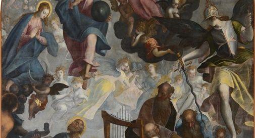 Oggi la pala d'altare del Piazza torna fruibile