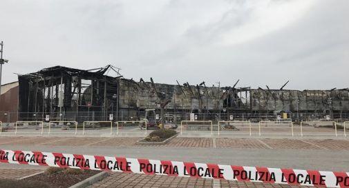 ciò che rimase dopo l'incendio al Parco Stella