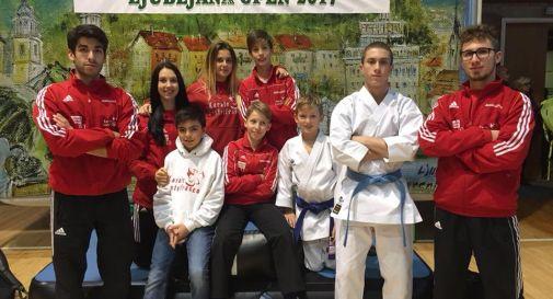 la squadra di Castelfranco a Lubiana