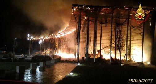 l'incendio di febbraio al Parco Stella