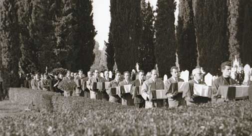 Cerimonia Alpini Cimitero di Ceneda