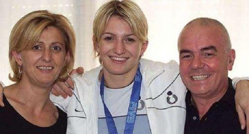 Sara Anzanello con i genitori