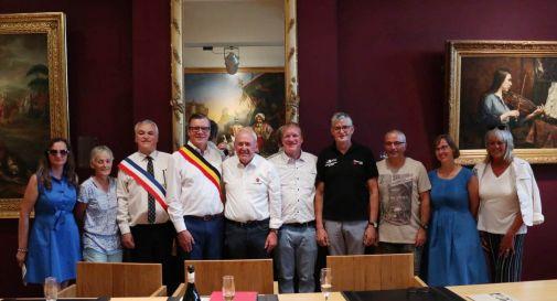 l'incontro tra i sindaci di Geraardsbergen e Guerlédan e Celeste Granziera