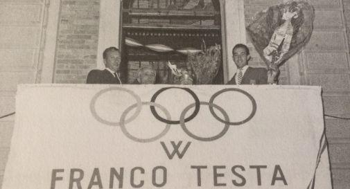 Franco Testa festeggiato in municipio dopo l'oro olimpico