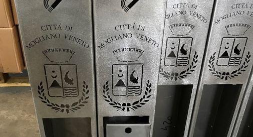 i porta-mozziconi che saranno installati a Mogliano