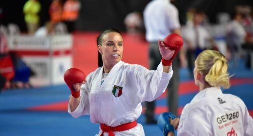 Sara Cardin venerdì contro l'atleta tedesca