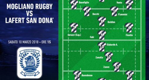 la formazione del Mogliano Rugby per il derby di sabato