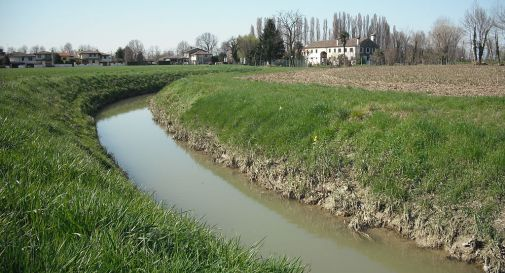 il canale Fossa Storta a Mogliano