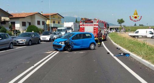 l'incidente lungo la Provinciale 13 a San Fior
