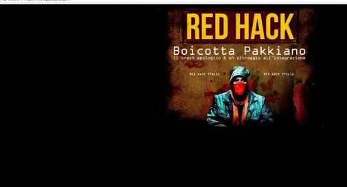 l'immagine del sito oscurato