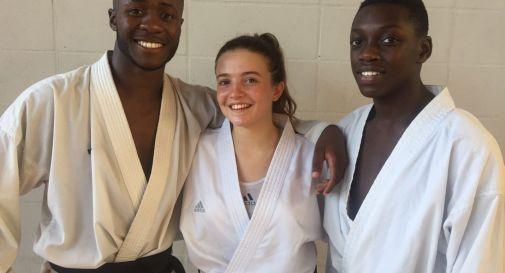 Nella foto, da sinistra Francesco Ouattara, Caterina Dozzo e Abouba Kone