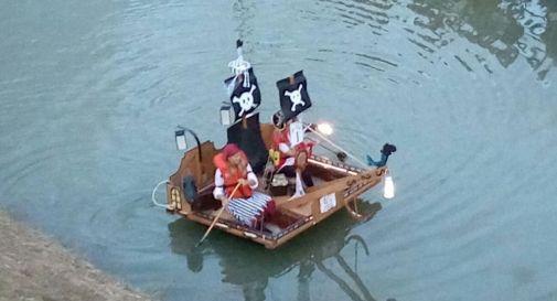 alcuni partecipanti alla regata semiseria di Chiarano