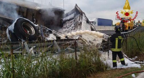 l'incidente di mercoledì alle 13 in A4 tra Cessalto e San Donà