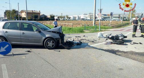 l'incidente in via Capitelo a Casier