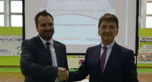 A sinistra Alessandro Righi, a destra Paolo Tolotto