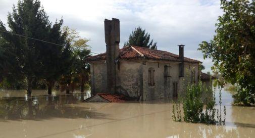 un'abitazione finita sotto acqua a Ponte di Piave