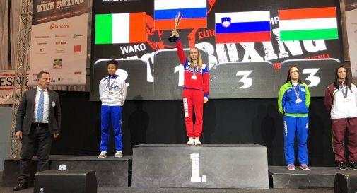Luna Mendy sul podio