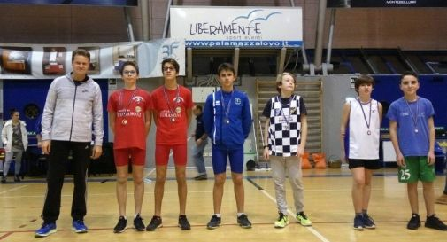biathlon, il podio ragazzi