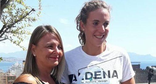 Barbara Pozzobon con l'allenatrice Barbara Bertelli