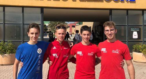 Gli atleti castellani durante il seminario nazionale