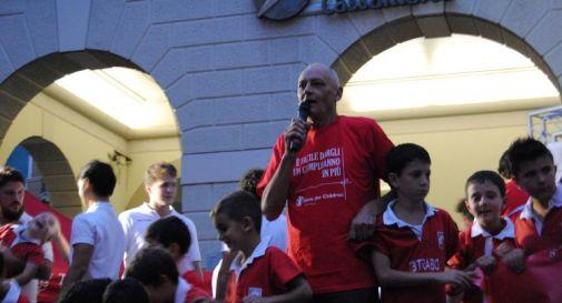 Il momento della presentazione dell'adesione all'iniziativa EveryOne di Save the Children.