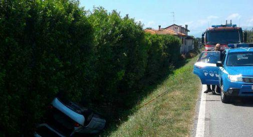 un'immagine dell'incidente lungo la Cadore - Mare