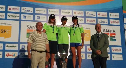 il podio: Pozzobon, Biagioli, Franco