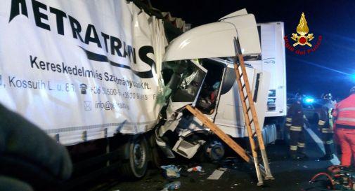 l'incidente di stanotte in autostrada