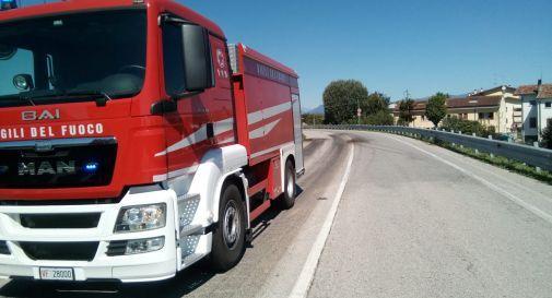 un recente intervento dei Vigili del Fuoco a Cimadolmo