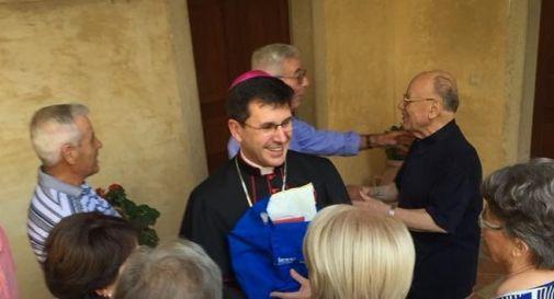 l'arcivescovo Fabio Dal Cin domenica a Motta