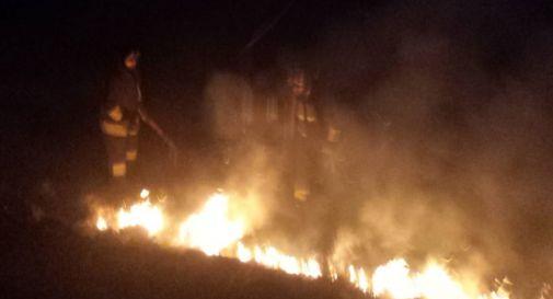 l'incendio a Motta ieri sera