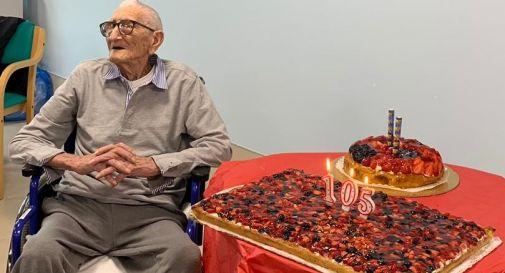 Noè Gottardi ieri ha compiuto 105 anni
